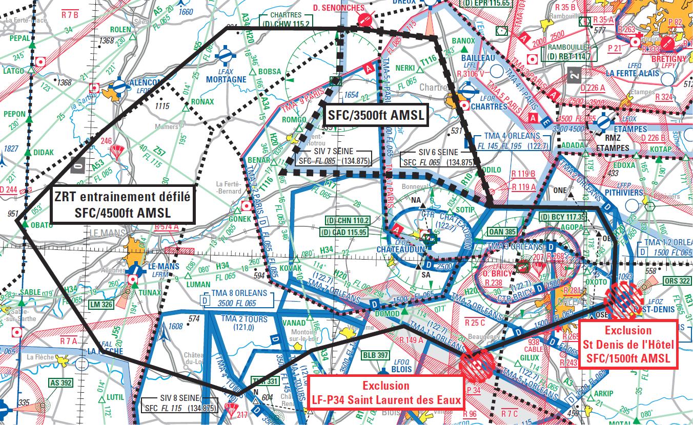 Répétition du défilé aérien du 14 juillet 2018
