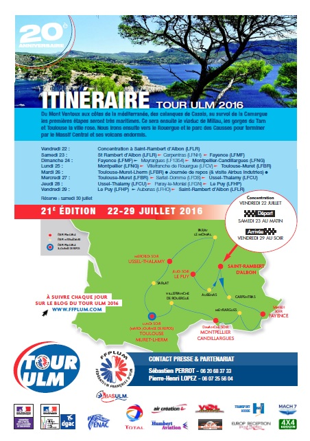 Le blog du Tour ULM 2016