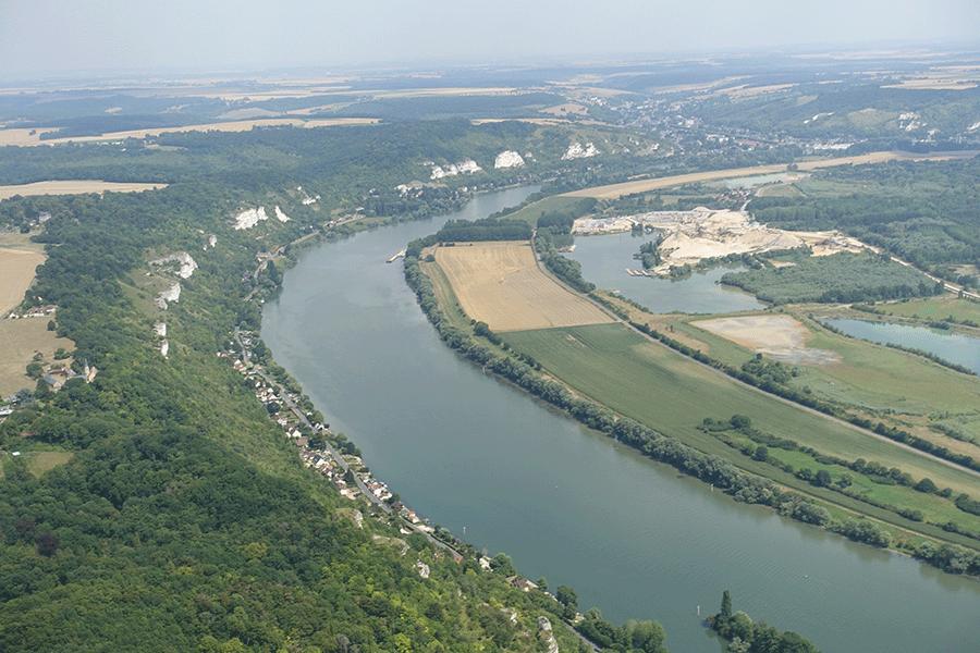 Saint-André de l'Eure, en remontant la Seine
