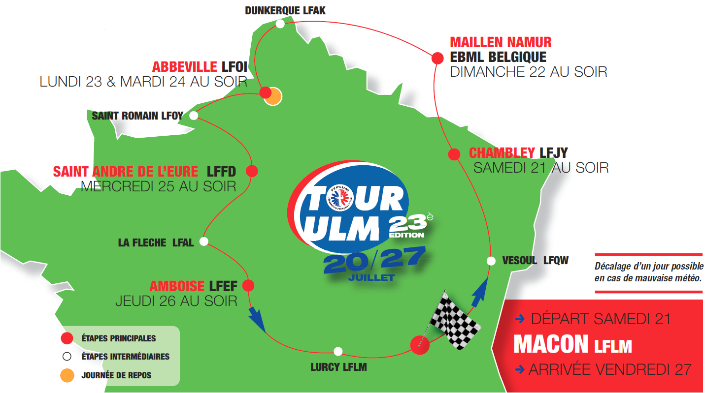 Le blog du Tour ULM 2018
