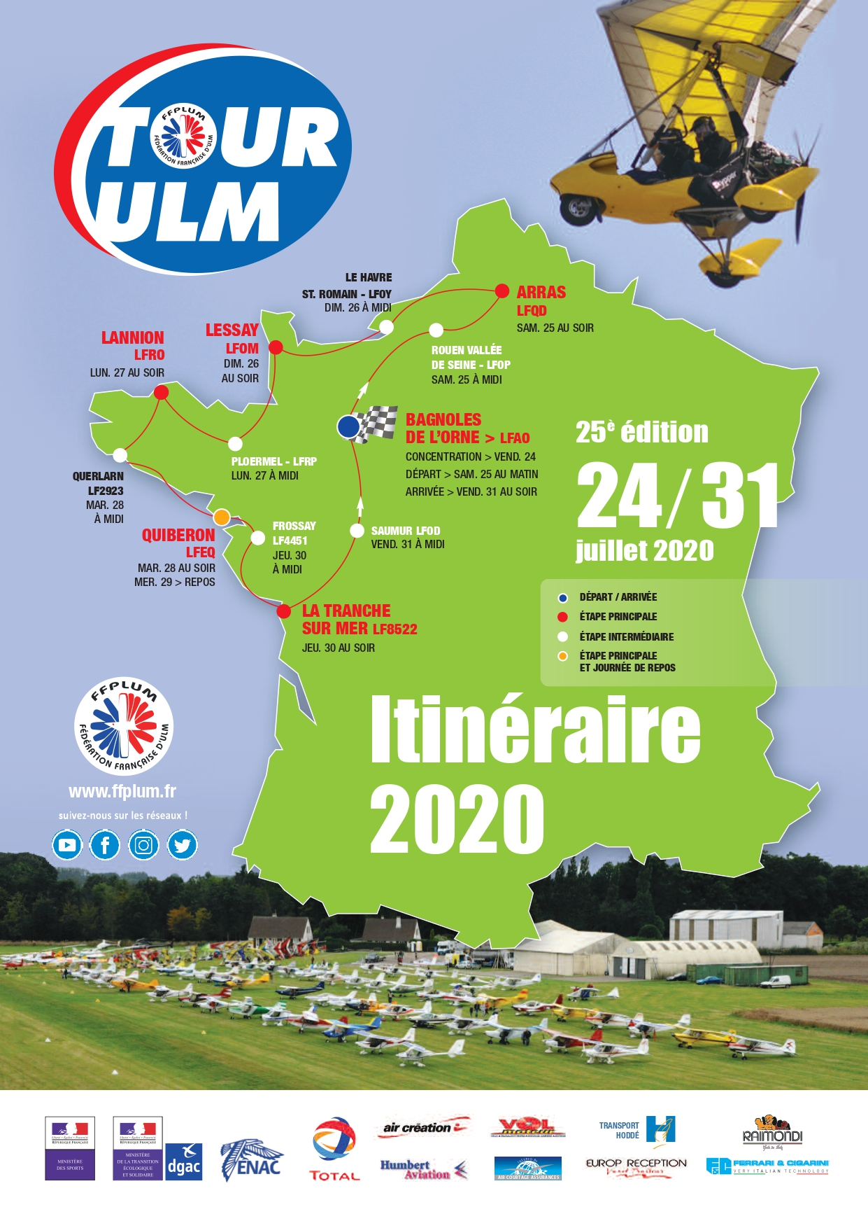 Le blog du Tour ULM 2020